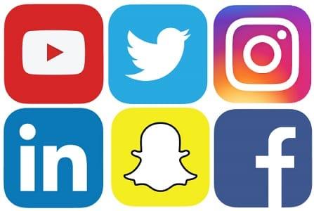 Logos das principais Redes sociais