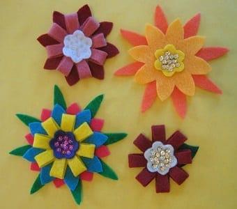 Flores criadas artesanalmente