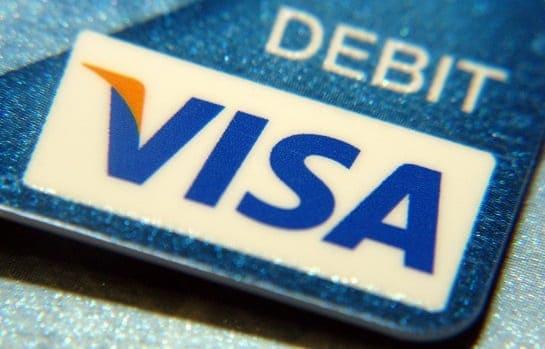 Cartão de débito de bandeira VISA
