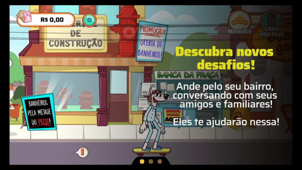 tela inicial do jogo tá osso