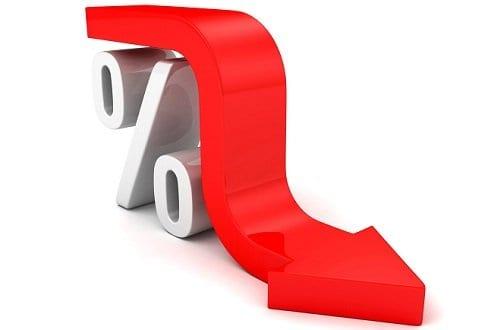 Figura com uma seta caindo e um % simbolizando o tema IPCA