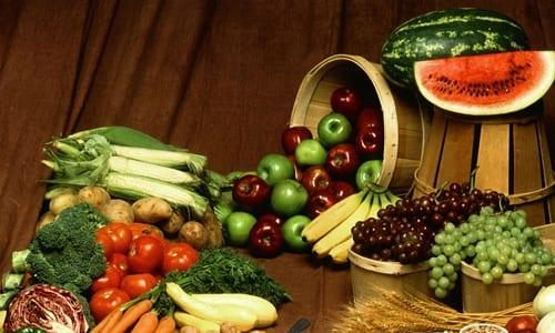 frutas e legumes orgânicos