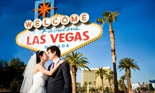noivos em Las Vegas