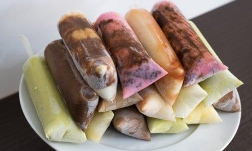 vários geladinhos
