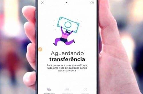 Print do aplicativo Nubank simbolizando o tema NuConta