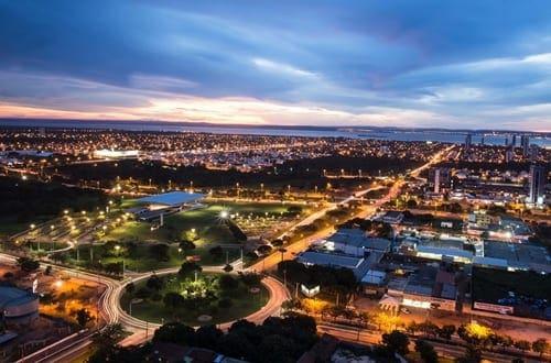 Vista aérea da cidade de Palmas.