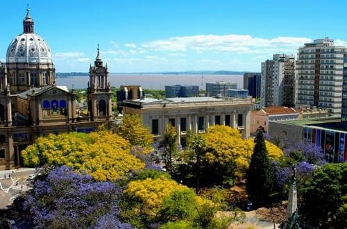 Praça da Matriz em Porto Alegre.