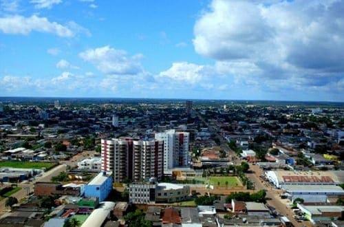 Vista aérea da cidade de Porto Velho.