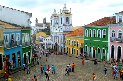 Bairro Pelourinho em Salvador.