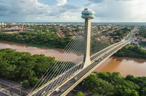 Ponte Estaiada João Isidoro França, na cidade de Teresina.