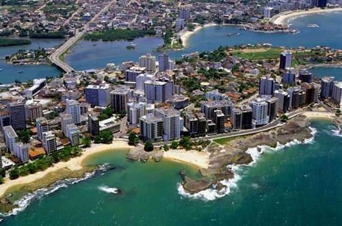 Vista aérea de Vitória.