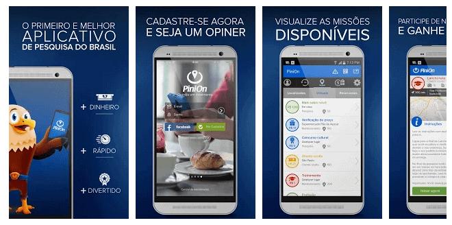 Print do aplicativo para ganhar dinheiro Pinion