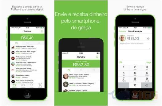 Print do aplicativo para ganhar dinheiro PicPay