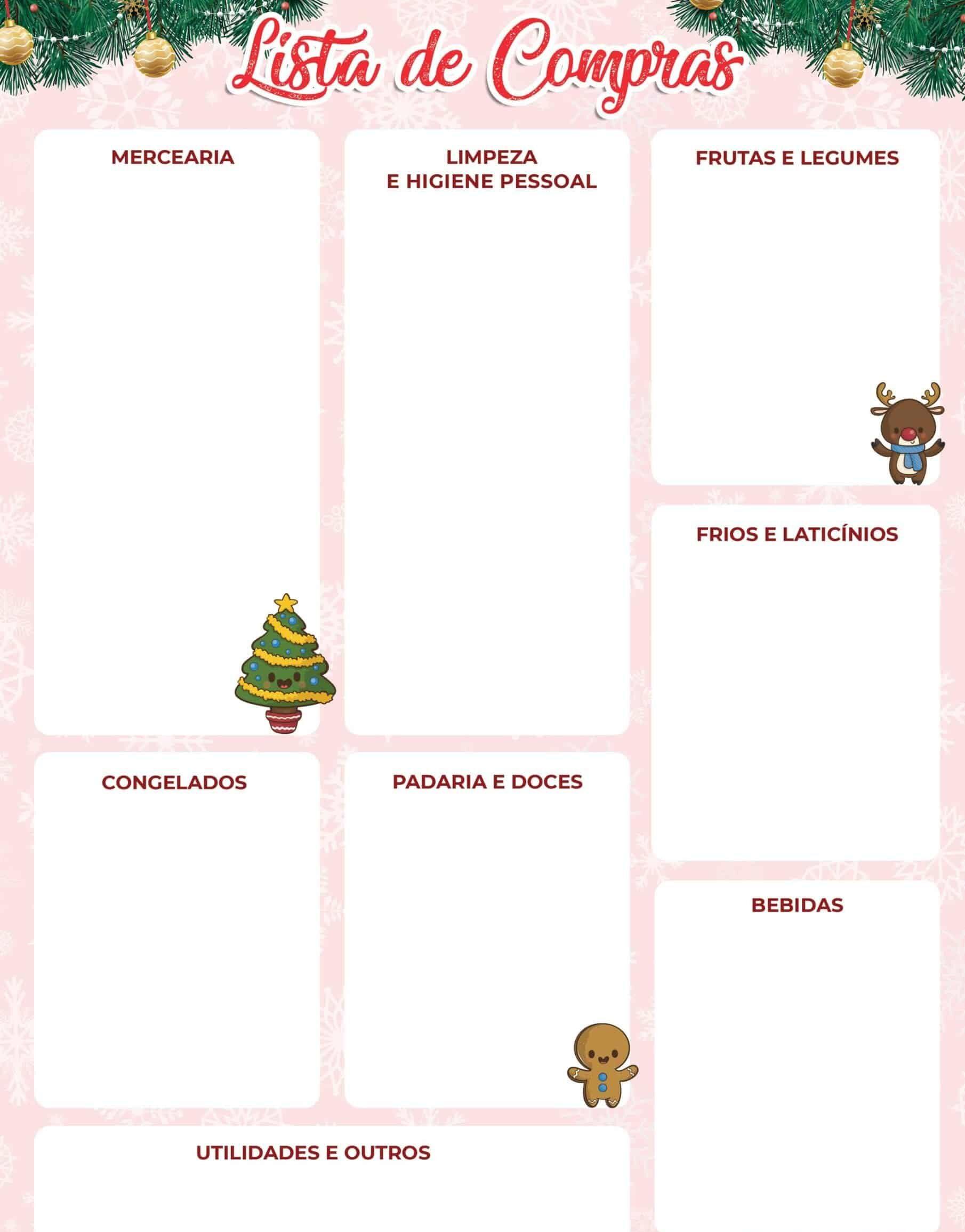 lista de compras versão natal
