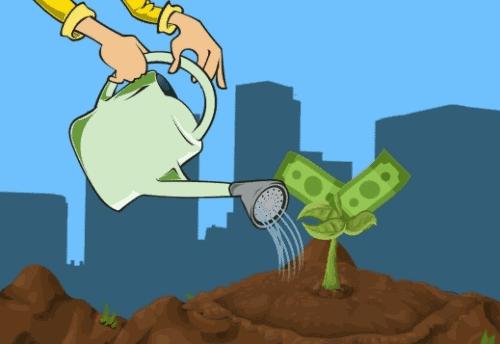 Figura de pessoa regando planta simbolizando o tema Investir em CDB e RDB