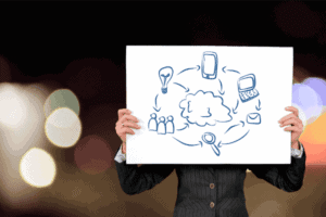 Foto de pessoa utilizando um quadro ilustrativo que simboliza o tema Kakeibo