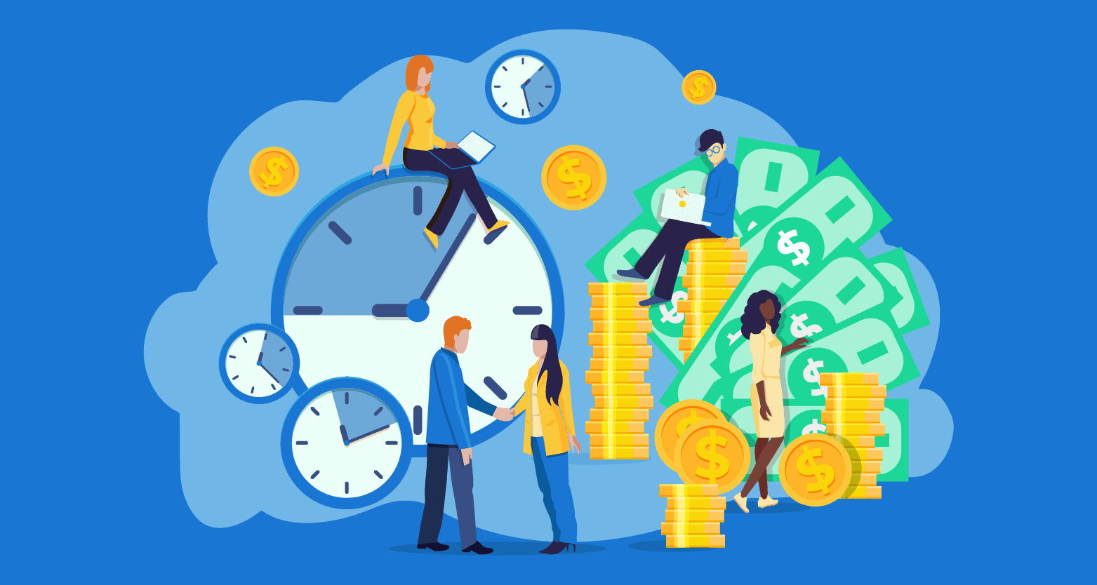 Ilustração sobre o fato de que pessoas ricas preferem ser remuneradas pelo resultado