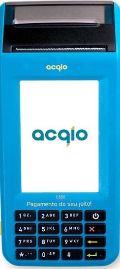 Imagem da máquina de cartão acqio c680