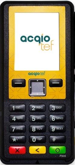 Imagem da máquina de cartão acqio teff