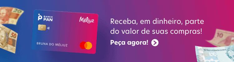 Banner convidando para pedir o cartão Méliuz