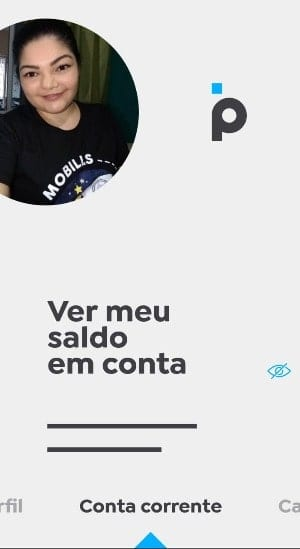 tela inicial do app banco pan