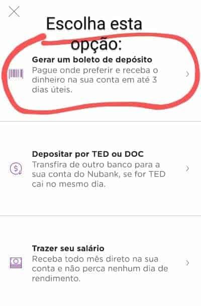 tela do app nubank