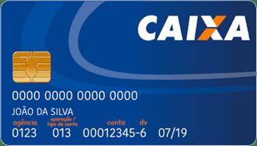 Cartão caixa operação 013 da poupança