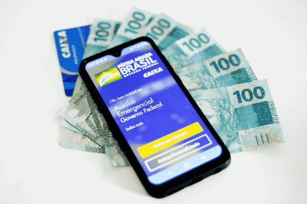 Foto do app do auxílio emergencial simbolizando o tema prorrogação oficial do auxílio emergencial