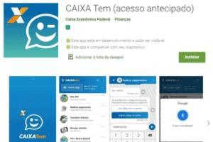 Print do App Caixa Tem simbolizando o tema o que significa a notificação AGE CRED F no App Caixa Tem