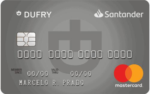 imagem do cartão santander sem anuidade dufry platinum