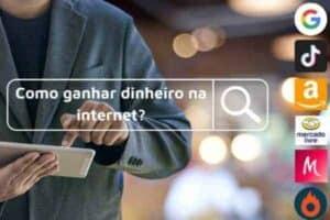 Ilustração simbolizando o tema como ganhar dinheiro na internet