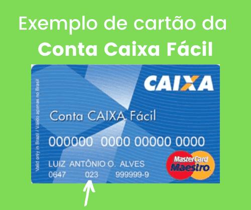 Exemplo de cartão com operação 023 caixa