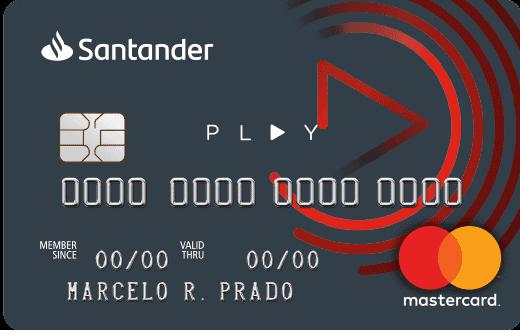 Cartão santander sem anuidade Play