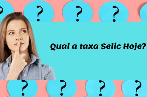 """Ilustração de mulher e a frase """"Qual a taxa selic hoje?"""""""