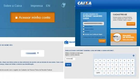 Site da CAIXA Login