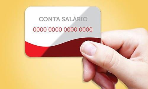 A abertura da conta salário dá direito a um cartão magnético para saques.