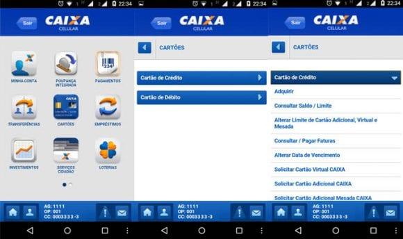 Aplicativo CAIXA Cartão de Crédito