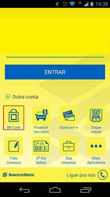 Leitor de QR Code no app do BB