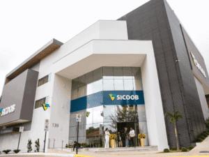 Imagem da sede do Banco Sicoob