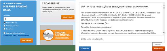 Cadastrar novo usuário na CAIXA
