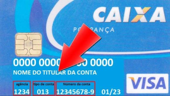 Como Encontrar o Número de Conta, Agência e Operação no Cartão Caixa?
