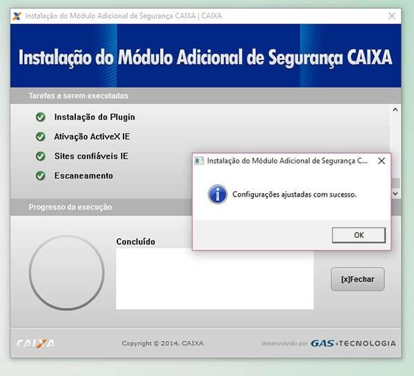 Instalação do Módulo Adicional de Segurança CAIXA