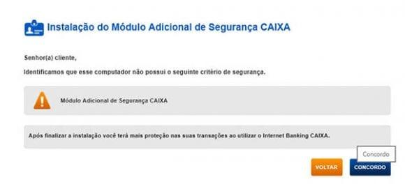 Instalacao do Modulo Adicional de Segurnca CAIXA