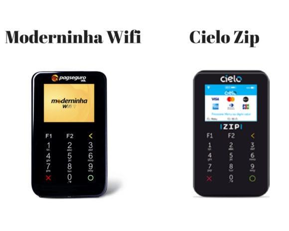 Moderninha e Cielo Zip comparação