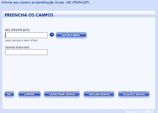 PIS CAIXA FGTS