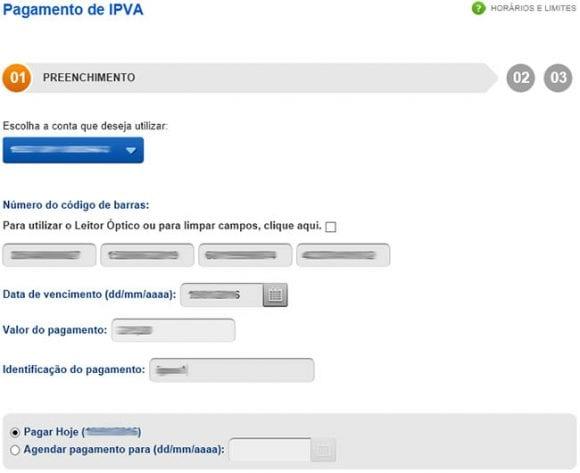 Pagamento IPVA