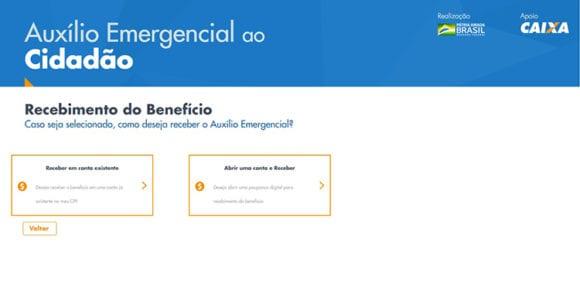 Site Caixa Auxílio Emergencial
