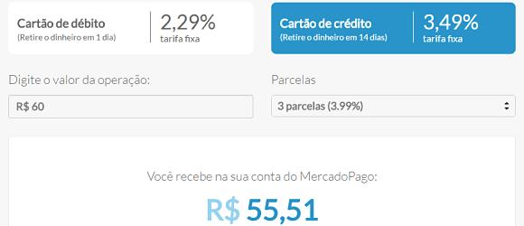 Taxas Mercado Pago Point H