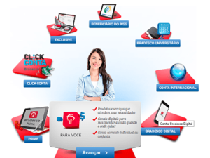 abrir conta bradesco online
