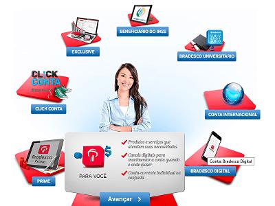 Como abrir uma conta no Bradesco online